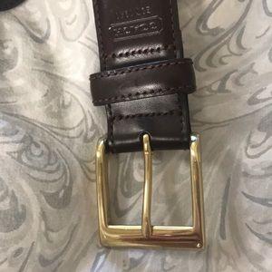 Men's leather coach belt